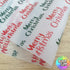 Red & Green Merry Christmas Packaging Paper