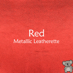 Red Metallic Leatherette