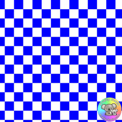 Royal Blue Checkerboard Fabric