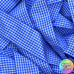 Royal Blue Gingham Plaid Ribbon