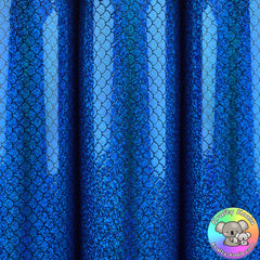 Royal Blue Mermaid Smooth Leatherette Fabric