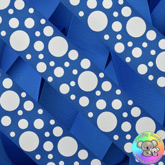 Royal Blue Spots Ribbon