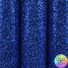 Royal Blue Ultra Chunky Glitter Fabric