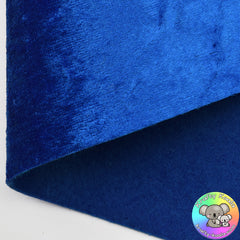 Royal Blue Crushed Velvet Fabric