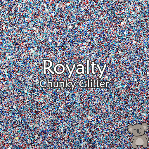 Royalty Chunky Glitter Fabric