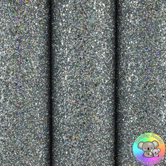 Silver Holographic Ultra Chunky Glitter Fabric