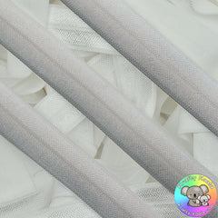 Silver Ombre Fold Over Elastic