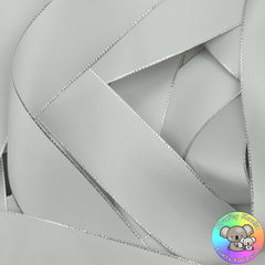 Silver Silver Edged Satin Ribbon