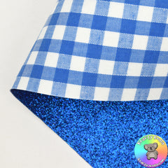 Blue Gingham Double Sided Fabric