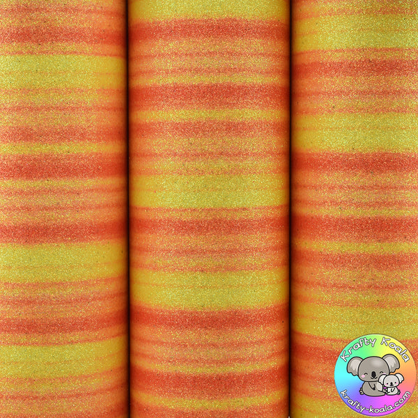 Sunset Streak Fine Glitter Fabric