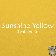 Sunshine Yellow Leatherette
