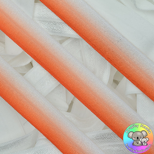 Tangerine Orange Ombre Fold Over Elastic
