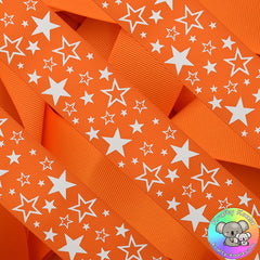 Tangerine Orange Stars Ribbon
