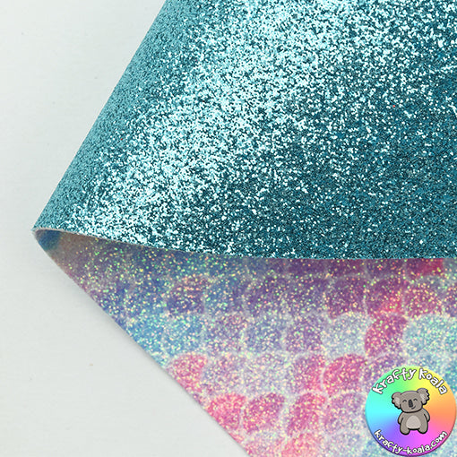 Turquoise Fine & Tranquil Mermaid Double Sided Fabric