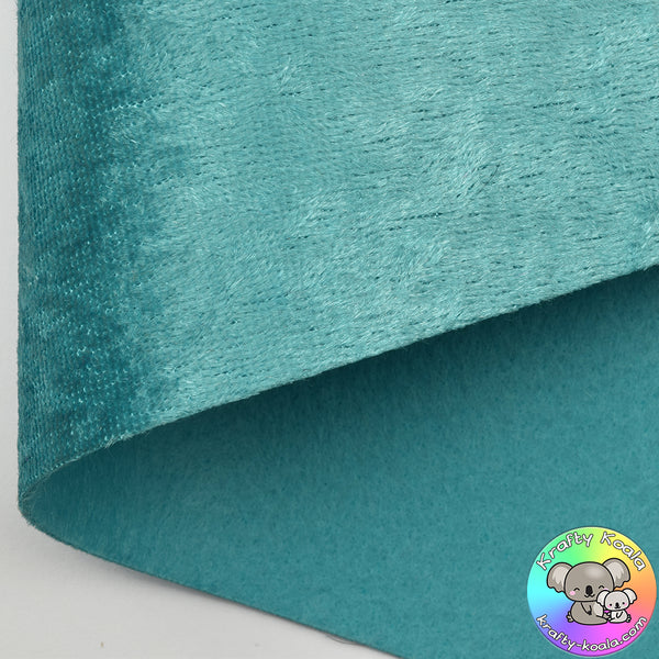 Turquoise Crushed Velvet Fabric