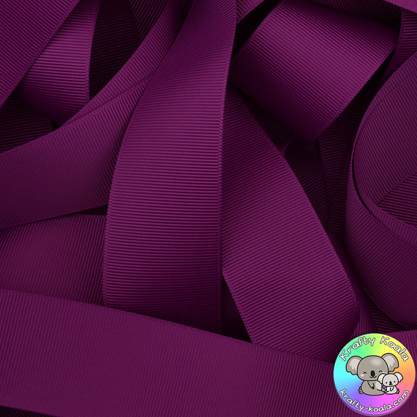 Ultra Violet Grosgrain Ribbon