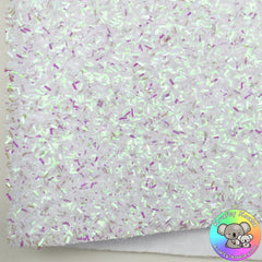 White Iridescent Tinsel Fabric