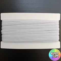 White 6mm Skinny Elastic