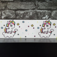 White Unicorns - Patterned Grosgrain Ribbon