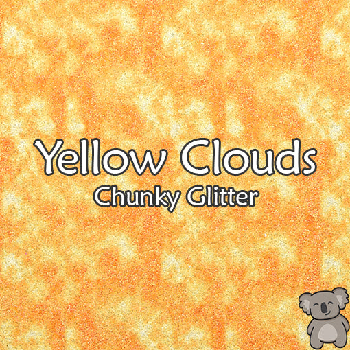 Yellow Clouds Chunky Glitter Fabric