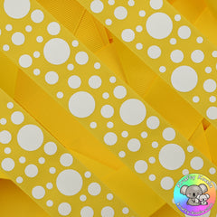 Sunshine Yellow Spots Ribbon