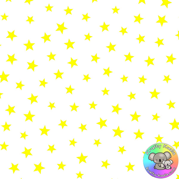 Yellow Stars Fabric