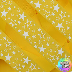 Sunshine Yellow Stars Ribbon