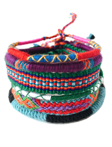 Friendship Bracelet Stack