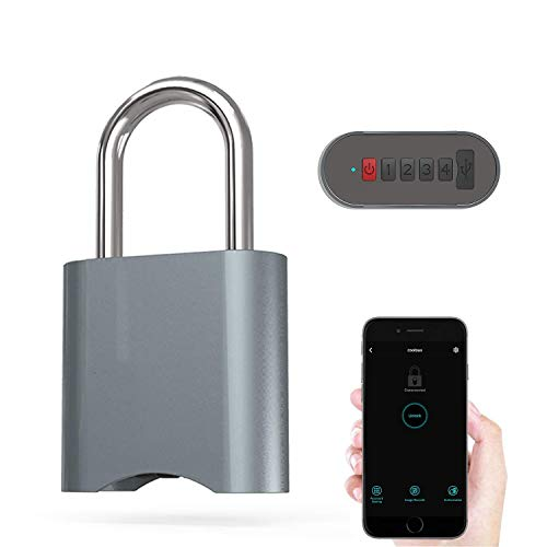 COOLOUS Smart Padlock Combination Padlock Bluetooth Connection APP Control Metal Keyless Luggage Gym Lock Support USB Charging - Coolous online