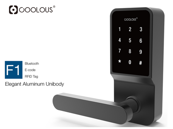COOLOUS 2Gen Smart Lock Bluetooth Keyless Touchscreen Digital Door Lock Smart Deadbolt Fully Automatic (with Handle)