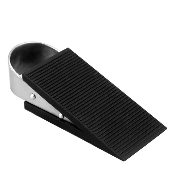 COOLOUS 2PCS Door Stopper Heavy Duty Decorative Door Stop Wedge, Non Scratching Door Stops, Made of Rubber and Zinc Alloy, Easy to Insert, Suits Any Floor for Home and Office.