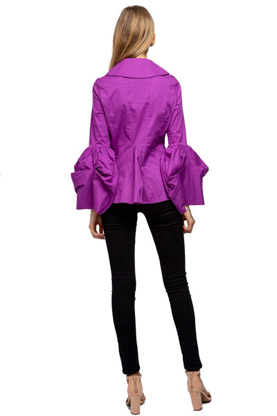 Romantic Queen Balloon Sleeve Blouse