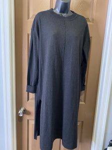 Black Sweater Tunic with Side Splits