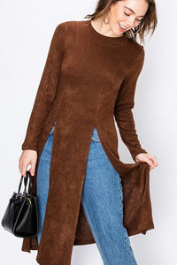 Maxi Sweater with Split Front