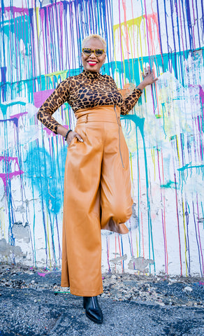 Highly Favored Vegan Leather Wide Leg Pants w/Pockets