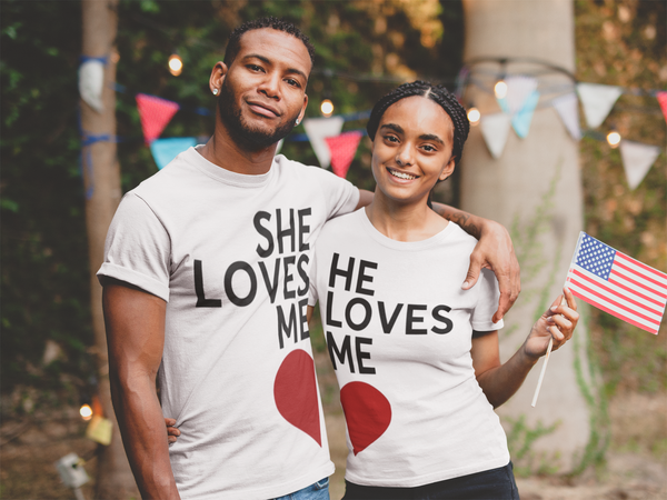 She Loves Me Side-Heart T-shirt