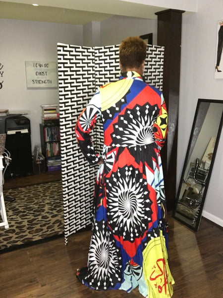 Kalaidescope Maxi Dress
