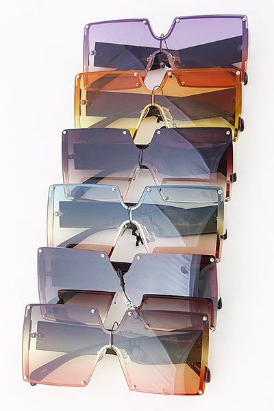 Square Iconic Mix Tone Sunglasses