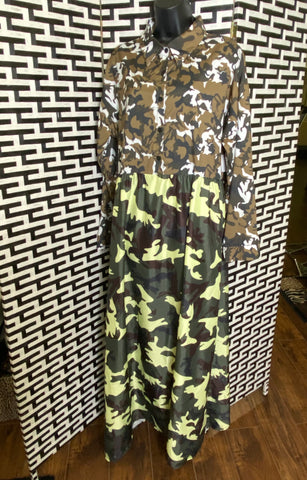 I'm Mixed Up Camo Maxi Dress