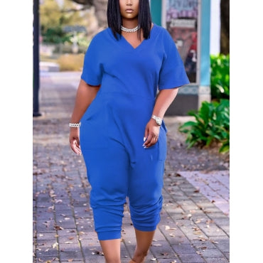 Short Sleeve Harem Jumpsuit