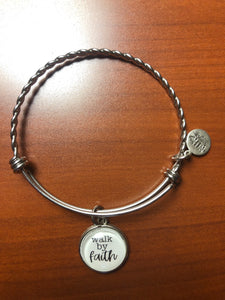 Stainless Steel Walk By Faith Bracelet