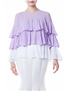 Violet and White Ruffle Top