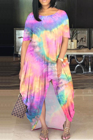 Splash Me Hi-Lo Tie Dye Dress (More Colors)