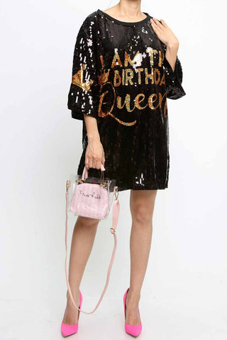 Birthday Queen Bling Jersey Dress/Top