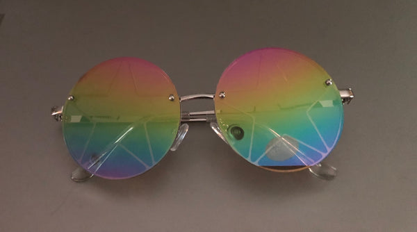 Rainbow Star Circle Mirror Sunglasses