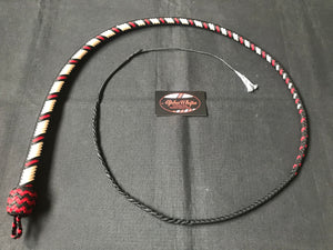 4ft, 16 plait, Foundation Series Nylon Snake Whip, Cream, Viper Pattern