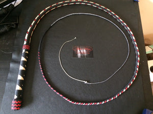 AlphaWhips 28 plait, Sport Series Nylon Paracord Bullwhip, 6 feet long. with Dyneema Fall