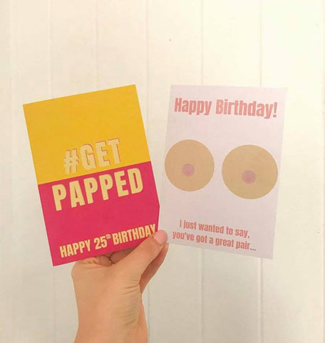 Pap smear and breast cancer cards