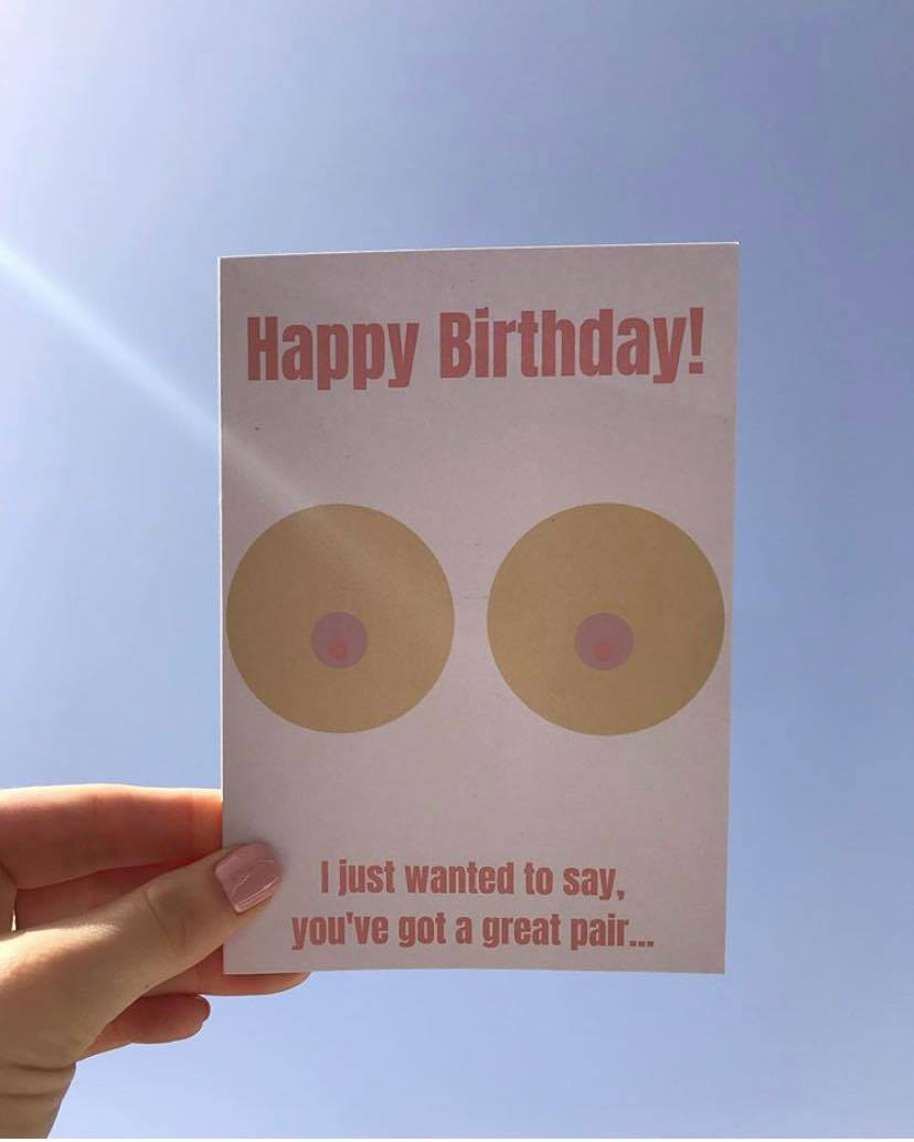 Breast Cancer Awareness Birthday Card