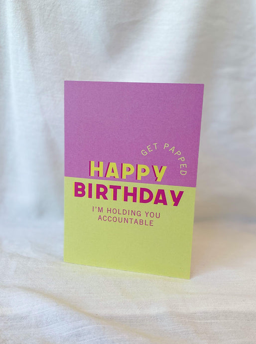 Get Papped Birthday Card